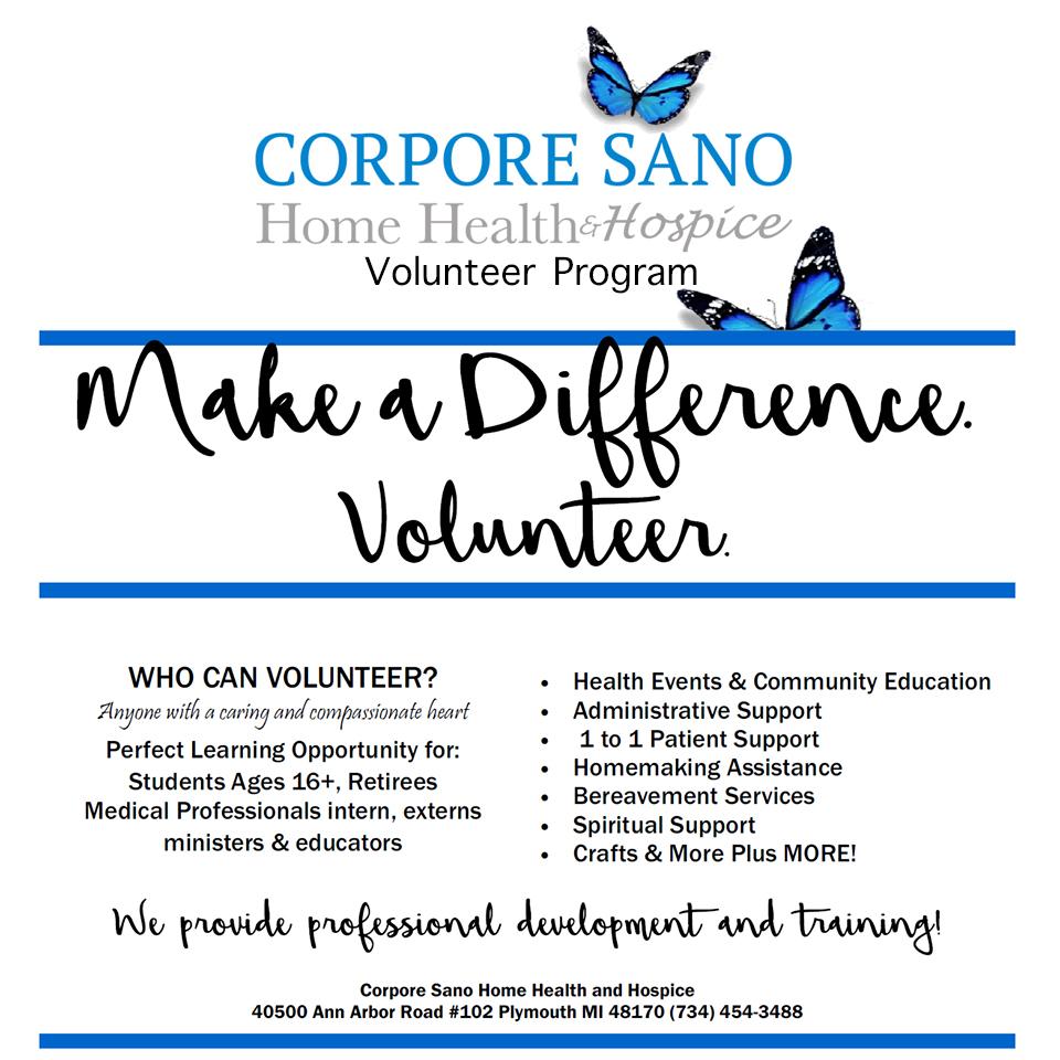 Corpore Sano Volunteer